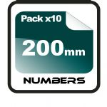 20cm (200mm) Race Numbers - 10 pack